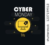 graphics on cyber monday with a ... | Shutterstock .eps vector #1237159513