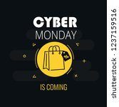 graphics on cyber monday with a ... | Shutterstock .eps vector #1237159516