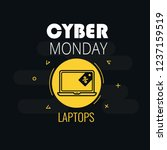 graphics on cyber monday with a ... | Shutterstock .eps vector #1237159519