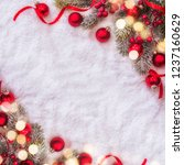 christmas and new year... | Shutterstock . vector #1237160629