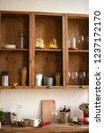 beautiful wooden cupboard in... | Shutterstock . vector #1237172170