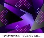 memphis seamless pattern....   Shutterstock .eps vector #1237174363