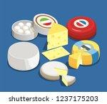 cheese assortment isometric... | Shutterstock .eps vector #1237175203