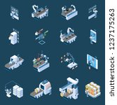 smart industry with robotized... | Shutterstock .eps vector #1237175263