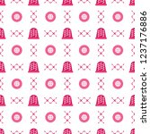 seamless pattern with thimbles... | Shutterstock .eps vector #1237176886