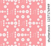 seamless pattern with needles ... | Shutterstock .eps vector #1237176949