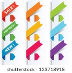 colorful arrows and labels. | Shutterstock . vector #123718918