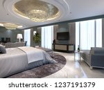 luxury apartments with a... | Shutterstock . vector #1237191379