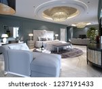 luxury presidential suite with... | Shutterstock . vector #1237191433