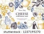 mediterranean cuisine design.... | Shutterstock .eps vector #1237195270