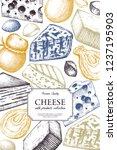 vector cheese design. hand... | Shutterstock .eps vector #1237195903