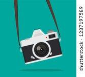 hanging retro camera vector   Shutterstock .eps vector #1237197589
