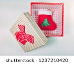 presents gift boxes and red... | Shutterstock . vector #1237210420