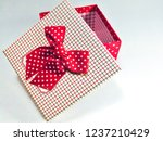 present gift boxes and red... | Shutterstock . vector #1237210429