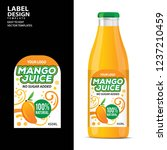 bottle label  package template... | Shutterstock .eps vector #1237210459