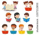 vector illustration of kids...   Shutterstock .eps vector #1237212853