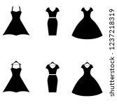 dress icon  logo on white... | Shutterstock .eps vector #1237218319