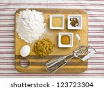 close up top view of cake... | Shutterstock . vector #123723304