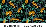 seamless exotic pattern with... | Shutterstock .eps vector #1237235953