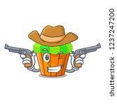 Cowboy Cupcake Shape Cartoon...
