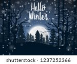 happy winter with forest... | Shutterstock .eps vector #1237252366
