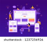 developers are testing an... | Shutterstock .eps vector #1237256926