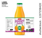bottle label  package template... | Shutterstock .eps vector #1237258420