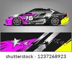 racing car wrap design. sport... | Shutterstock .eps vector #1237268923