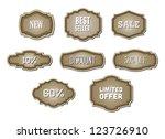 vector retro vintage frames... | Shutterstock .eps vector #123726910