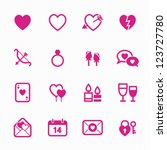 valentine's day icons with... | Shutterstock .eps vector #123727780