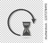 sandglass clock icon on... | Shutterstock .eps vector #1237278493