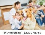 dog as a pet and friend when... | Shutterstock . vector #1237278769