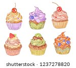a collection of multi colored... | Shutterstock .eps vector #1237278820