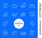 lineo white   breakfast and... | Shutterstock .eps vector #1237286563
