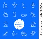 lineo white   barbecue and... | Shutterstock .eps vector #1237286566