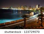 tel aviv. night view from jaffa | Shutterstock . vector #123729070