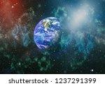 planet earth. eastern... | Shutterstock . vector #1237291399
