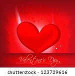 abstract valentine's day... | Shutterstock .eps vector #123729616