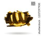yellow brush stroke and texture....   Shutterstock .eps vector #1237297930