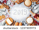 bakery background with... | Shutterstock . vector #1237305973