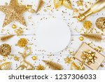 christmas background with paper ... | Shutterstock . vector #1237306033
