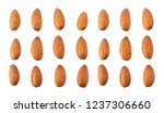 almond nuts isolated on white... | Shutterstock . vector #1237306660