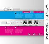 website template minimal style | Shutterstock .eps vector #123730696