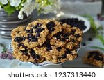 oatmeal cookies with... | Shutterstock . vector #1237313440