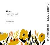 modern floral template... | Shutterstock .eps vector #1237318840