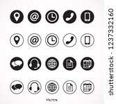 contact us icons. simple flat ... | Shutterstock .eps vector #1237332160