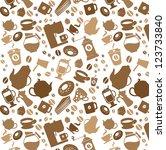 coffee pattern   Shutterstock .eps vector #123733840