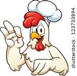 Cartoon Chef Chicken. Vector...