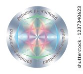 round hologram realistic... | Shutterstock .eps vector #1237340623
