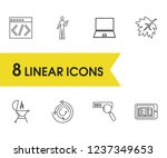 universal icons set with code ...